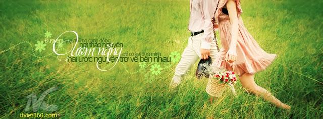 Ảnh bìa Facebook cho tình yêu đẹp - Cover FB timeline love, ươm nắng chỉ có 2 đứa mình