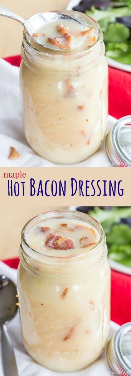 Maple Hot Bacon Dressing