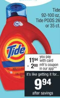 Tide 92-100 oz cvs couponers deal