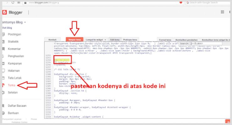 Instruksi Dasar: Cara Mengaktifkan Widget Popular Post di Blogger