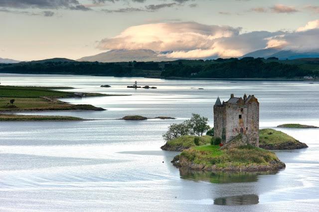 Castle Stalker, Loch Linnhe, Skotlandia