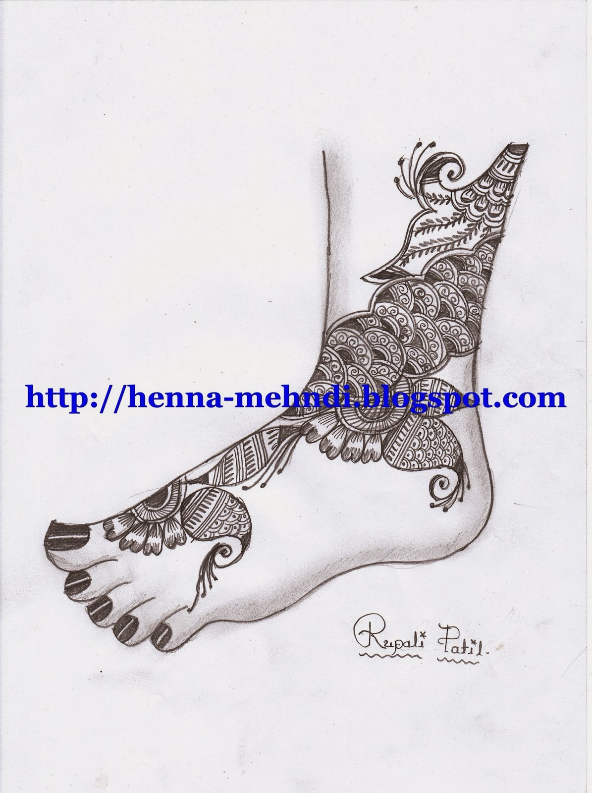 Bridal Henna Design For Leg Henna Mehndi Designs Body Art Tattoo