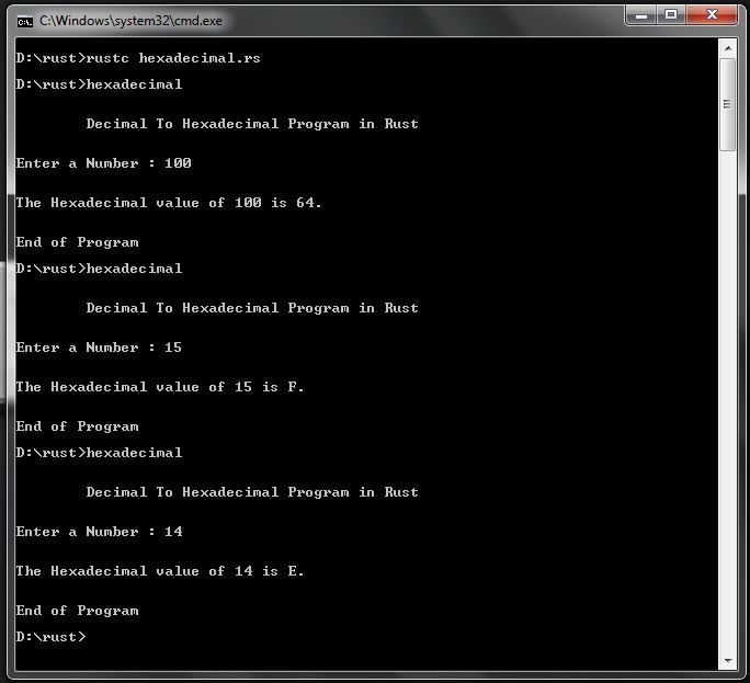 Free Programming Source Codes To All: Decimal To Hexadecimal