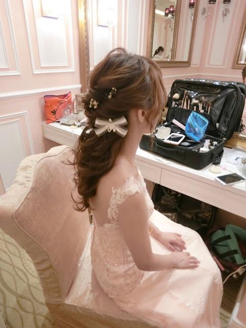 半盤髮 | 公主頭 | 新娘公主頭造型 | 台北新秘推薦