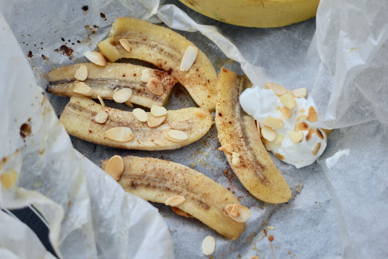 Rezept für süße Ofenbananen