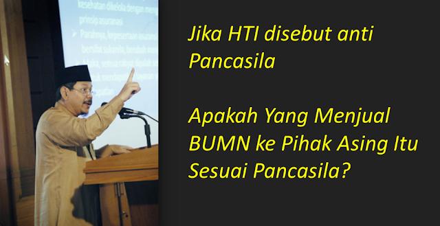 Dituding Anti Pancasila, Jubir HTI: Apakah Yang Menjual BUMN ke Asing Itu Sesuai Pancasila?