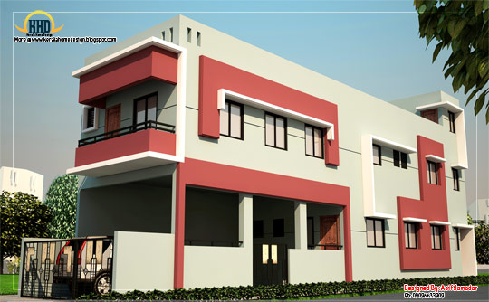 Long Shaped House Elevation - 219 Sq M (2360 sq ft) - February 2012