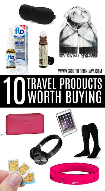 10 Travel Products Worth Buying - Travel Essnetials and Must Haves, Gift Guide for People Who Like to Travel, What to take on a long haul flight