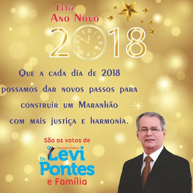 Votos de Ano Novo do Deputado Levi Pontes e família.