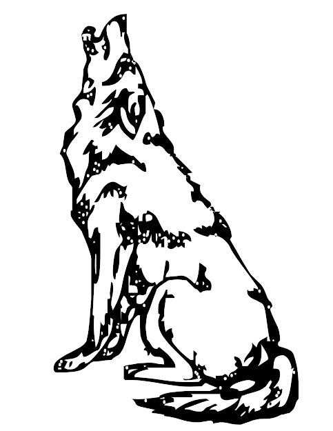 Wolf Howling At The Moon Coloring Pages  Howling Wolf Colouring Pages Page