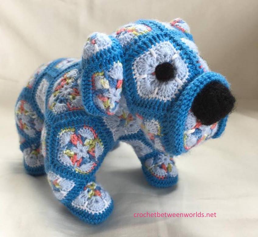 Crochet Between Worlds Max The African Flower Bulldog