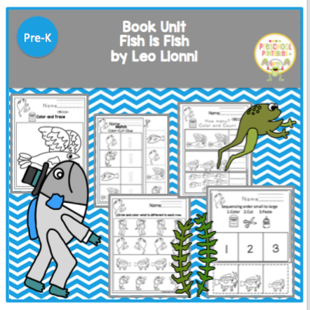 Book unit fish is fish by leo lionni preschool printables for Fishpond books