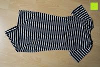 hinten: AIYUE Frauen Monochrom Streifen mit kurzen Hülsen Etuikleid Figurbetontes Kleid Partykleid Clubwear