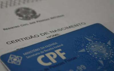 Em SP, emissão do CPF na certidão de nascimento passa a ser obrigatória