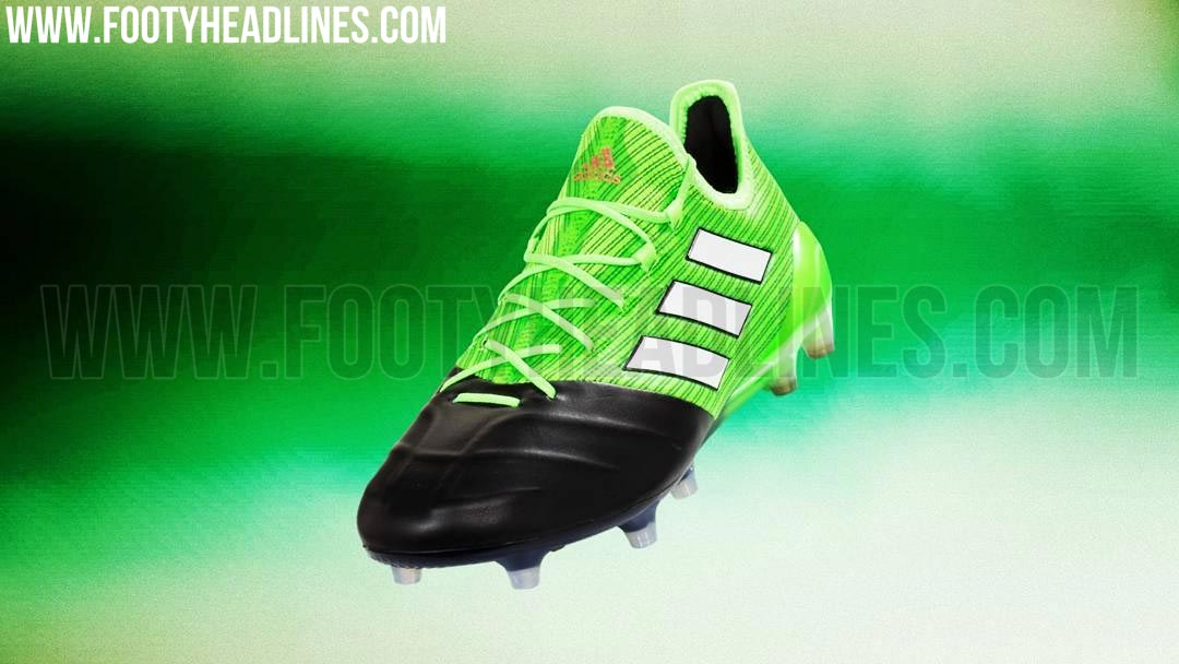 2017 Adidas ACE 17 1 Leather FG Football Boots Green White Black