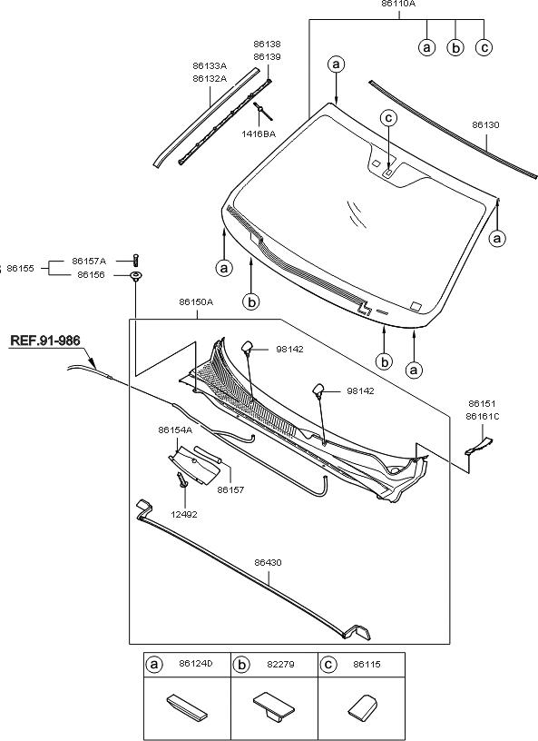 2012 Kia Sorento Parts Diagram