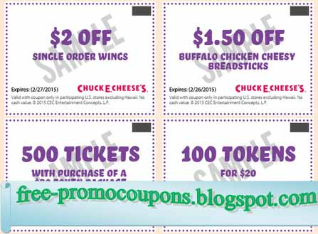 image relating to Chuck E Cheese Coupon Printable known as Printable Discount coupons 2019: Chuck E Cheese Discount codes
