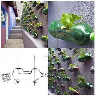 maceta con pet reciclado proyecto DIY