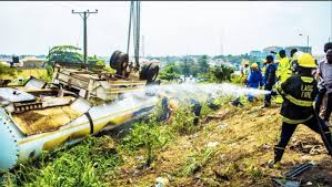 tanker falls on Otedola Bridge