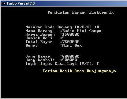 Program Penjualan Menggunakan Pascal - Naga Pena