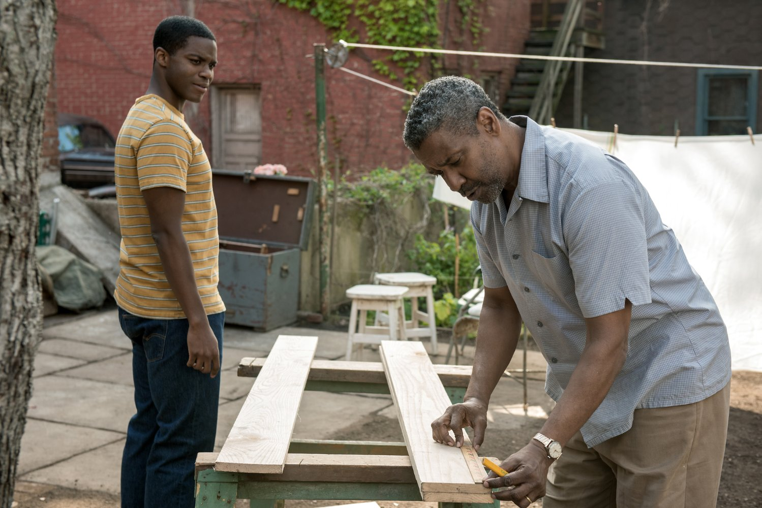 new clips and images from fences starring denzel