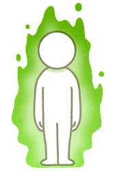 オーラのイラスト(緑)