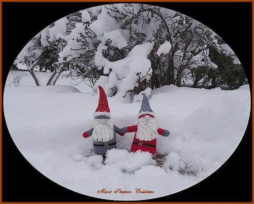 Gnomes de Noël au crochet