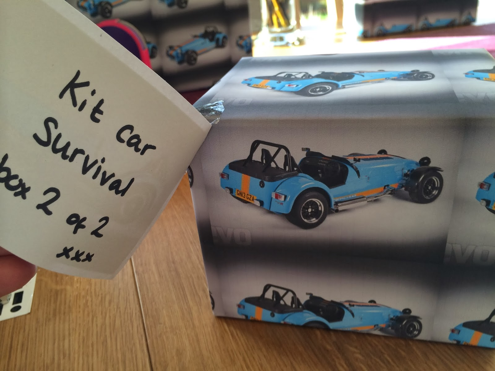 Box 2 of the kit car survival pack is...?