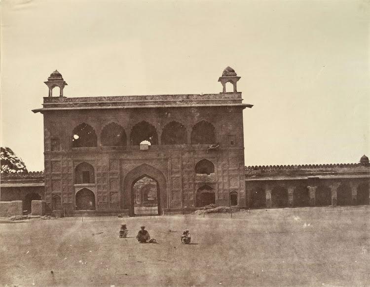 Naqqar or Naubhat Khana within Red Fort (Lal Qula) Complex, Delhi - 1858