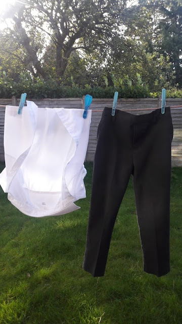 shirt, trousers, washing