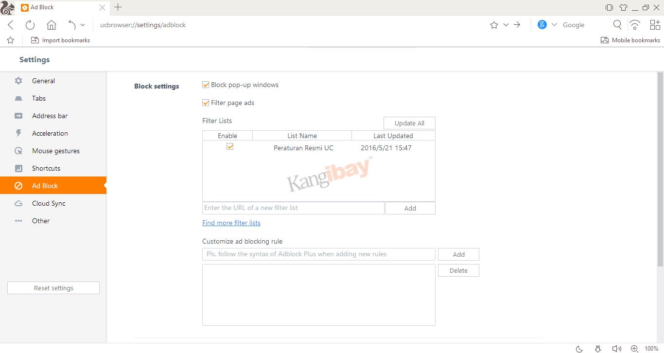 uc browser tanpa adblock