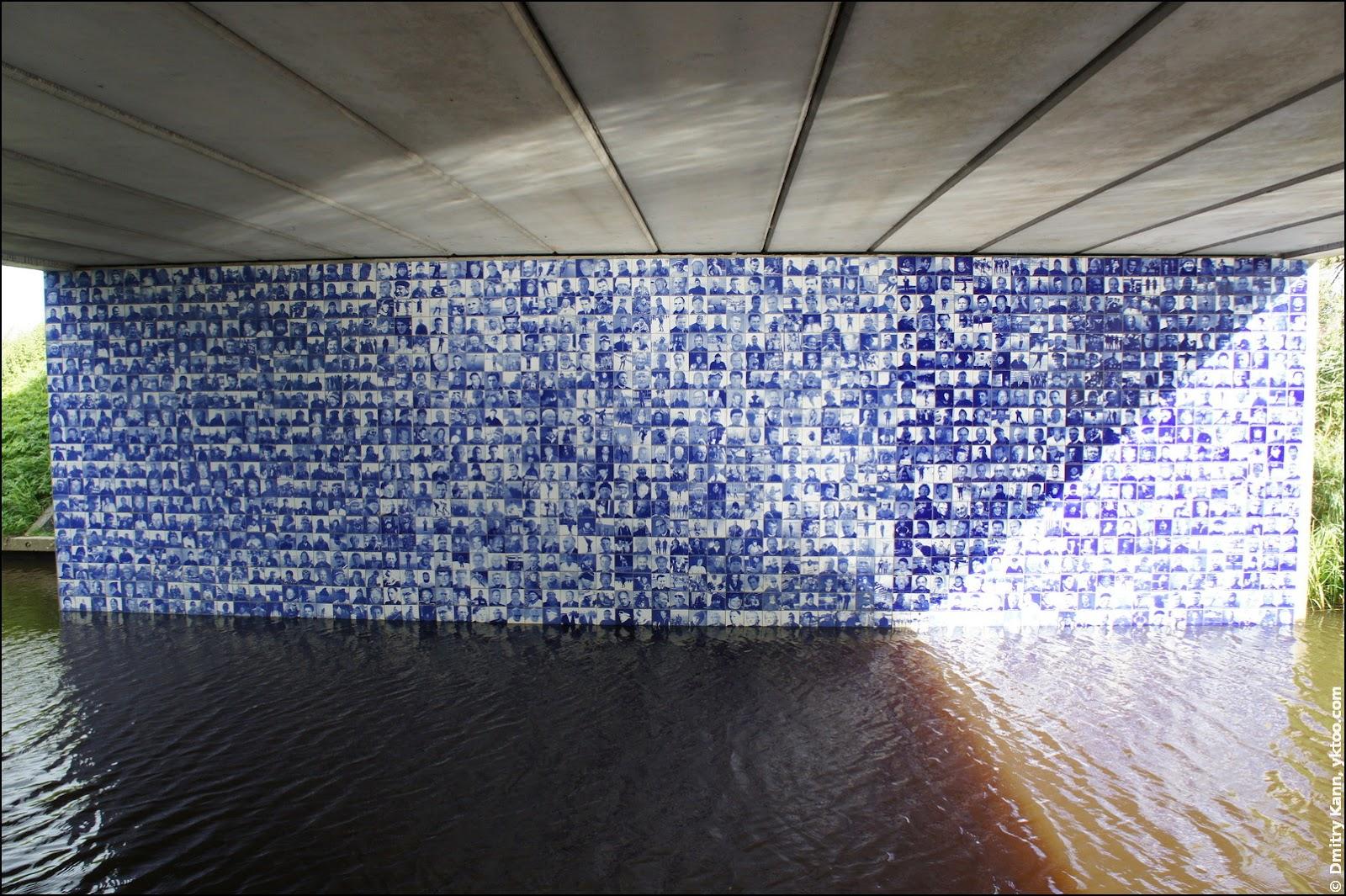 Elfstedenmonument, внутрення сторона моста.