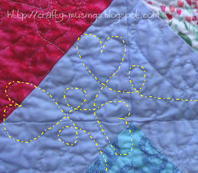 Hearts Full quilting design