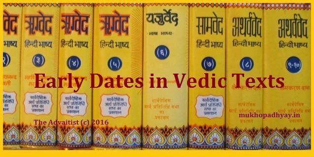 Vedas dating