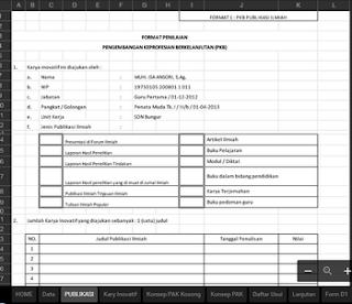 Aplikasi DUPAK Tahun 2016 Format Excel