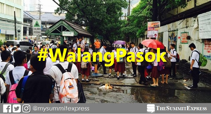 #WalangPasok: Class suspensions on Monday, January 15, 2018