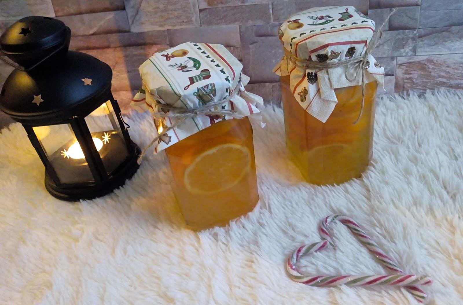 Pomarańcze w syropie - jako dodatek do grudniowej herbaty