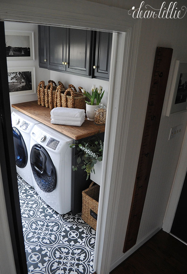 Dear lillie our laundry room makeover for Cheap kitchen units for utility room