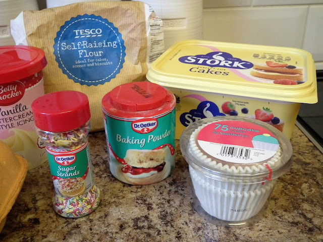 Baking Ingredients for Cupcakes