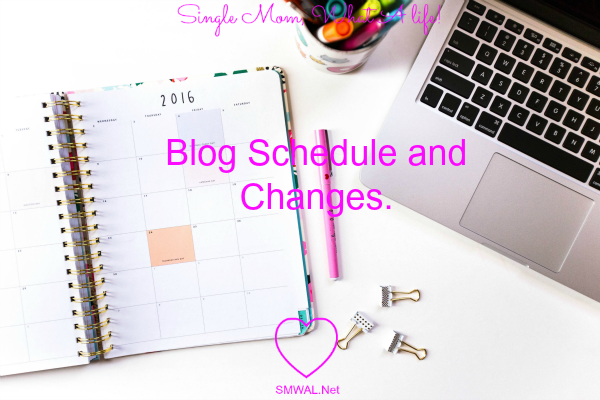 Blog, Schedule, change