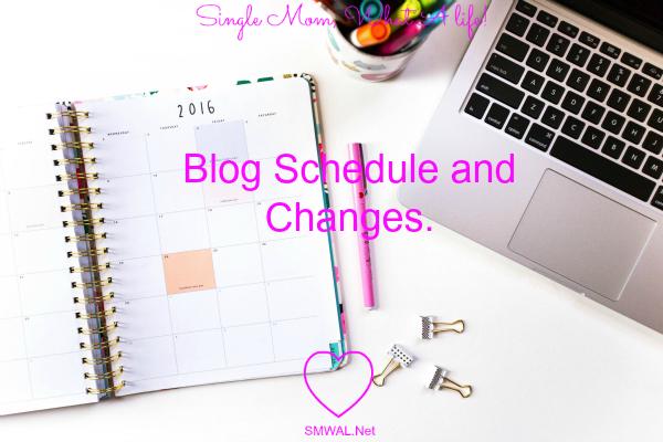 Blog, Schedule, change