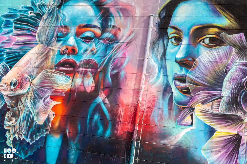 Impressive 3D Street Art Murals in Antwerp, Belgium by artist Djoels