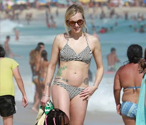 Celebrity in bikini: FEARNE COTTON at a Beach in Rio