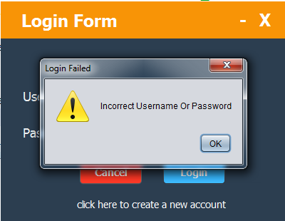 Java - Login And Register Form With MySQL DataBase - C#, JAVA,PHP