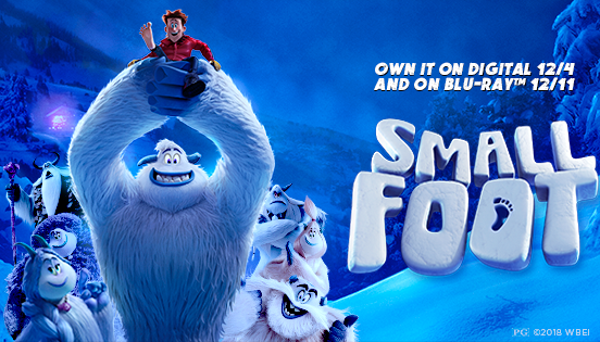"""Big News! """"Smallfoot"""" Is Arriving on Blu-ray and DVD: Enter to Win a Blu-ray Combo Pack!"""