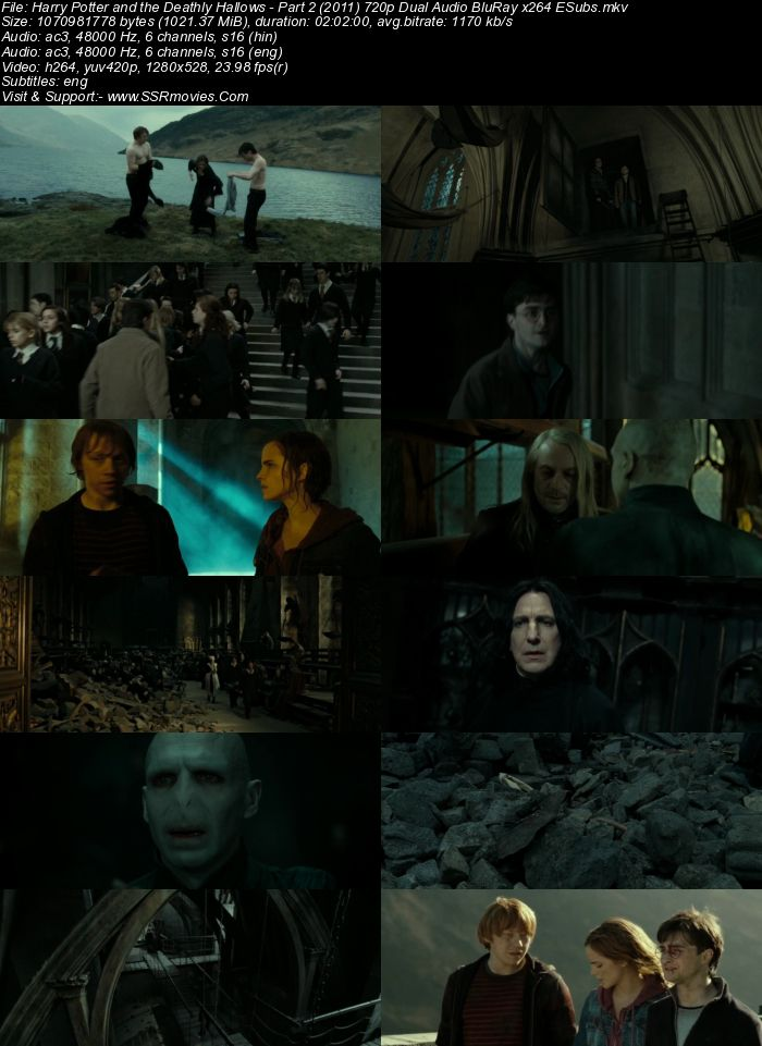 Harry Potter 7 - Part 2 (2010) Dual Audio Hindi 720p BluRay x264 1GB ESubs Movie Download