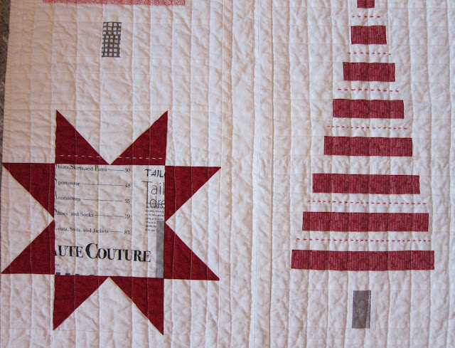 A Maiden Hair Fern Christmas Tree Quilt Finished