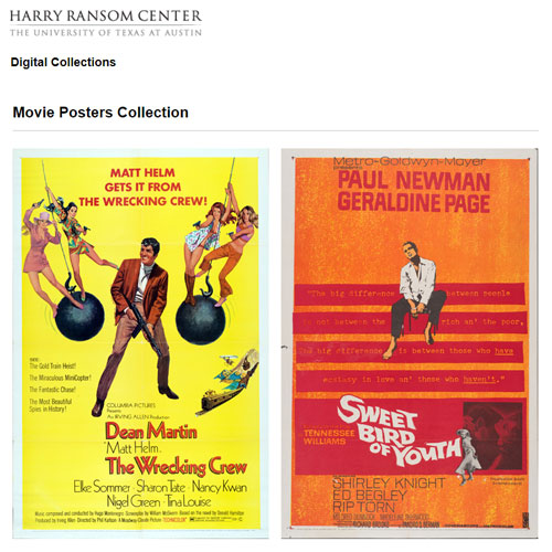 The Ransom Center's movie poster collection