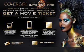 Free Catching Fire movie ticket when you purchase $20 worth of Covergirl makeup