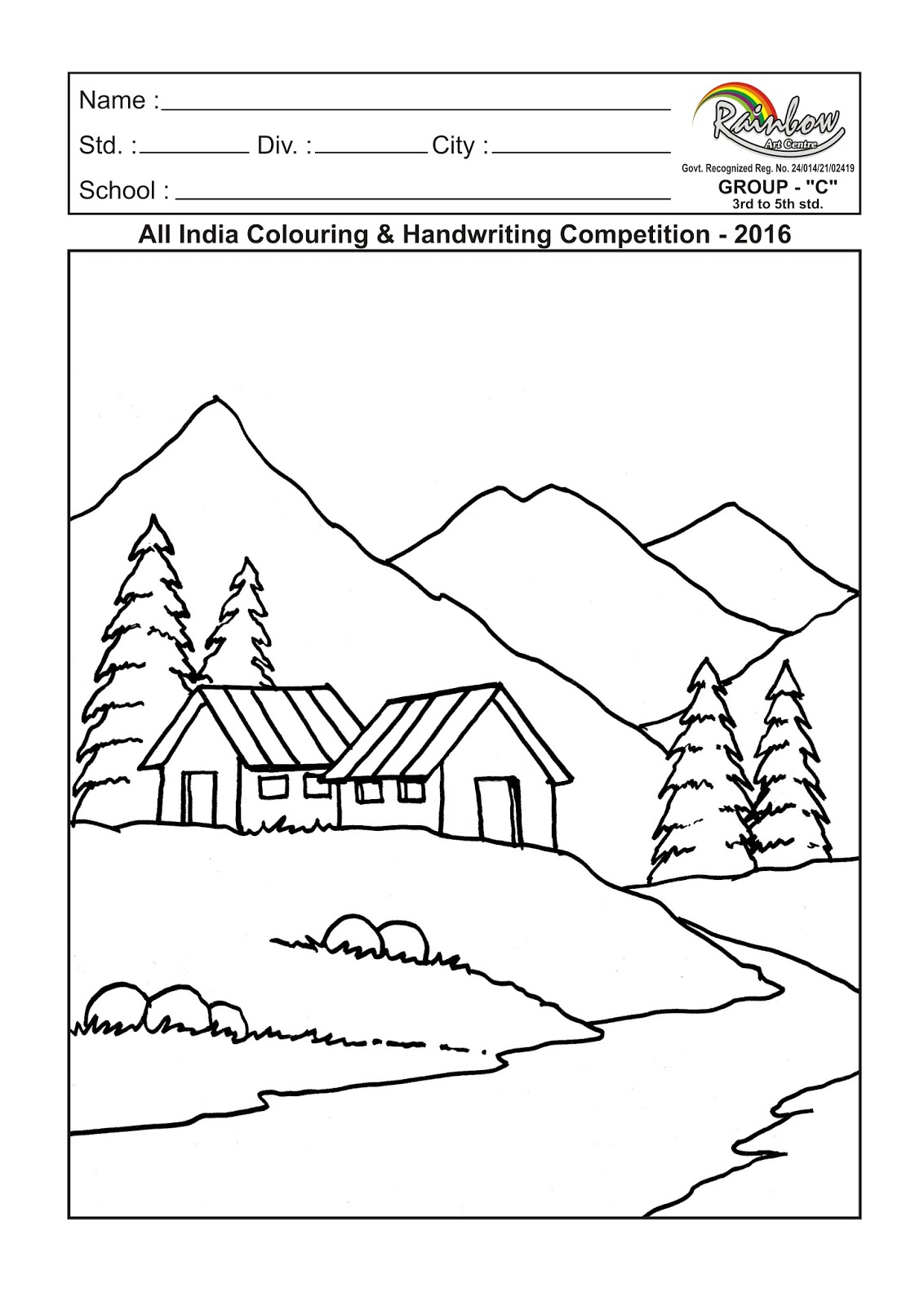 All India Colouring and Handwriting Competition